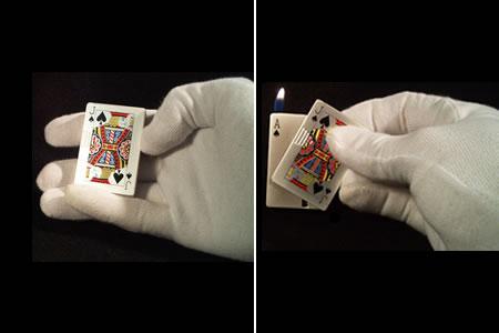 tour de magie carte briquet