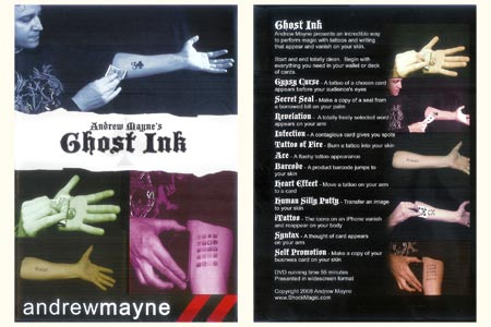 DVD Ghost Ink (Andrew Mayne)