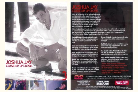 DVD Close up. Up close V3 (Joshua Jay)