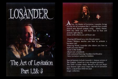 DVD The art of Levitation (Part 1,2 et 3)