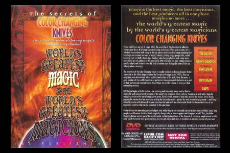 DVD The Secrets of Color changing Knives