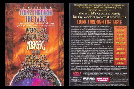 DVD The Secrets of Coins through the Table