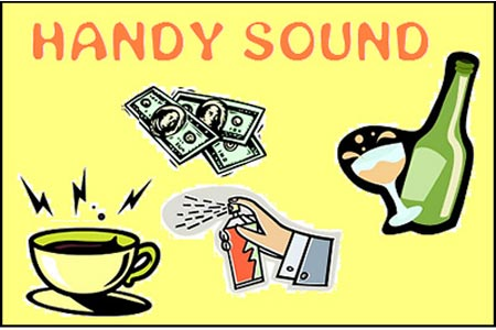 Handy Sound (Coin in Liquid and Paper Tear)