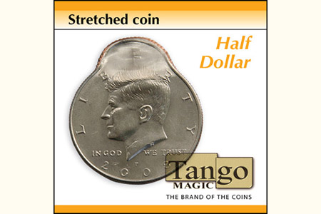 Streched coin half dollar
