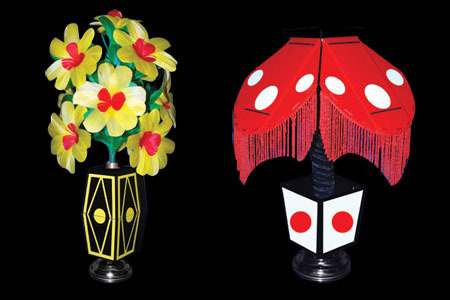 Flower vase to night lamp