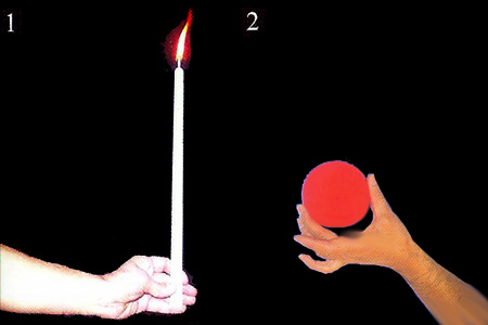 Candle to ball