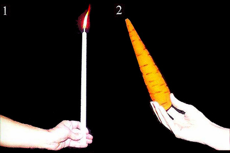 Candle to carrot