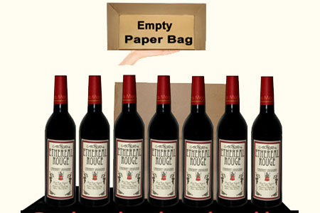 Appearing 7 wine bottles from empty Paper Bag