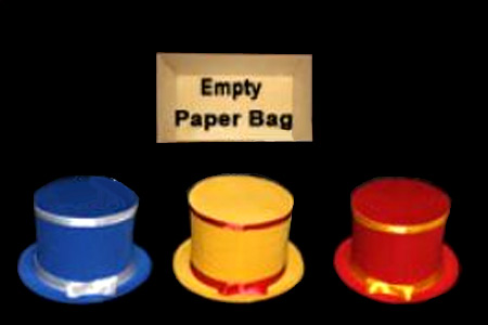 Colorful Hats from paper bag