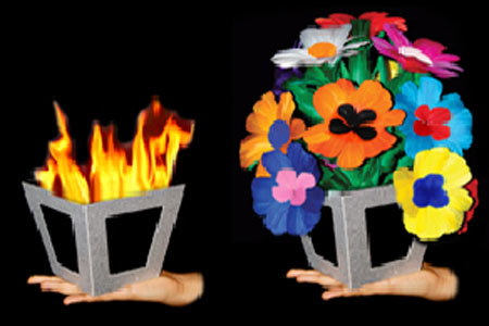 Automatic Fire to Flower Vase