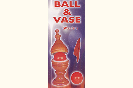 Wooden ball and vase Plus