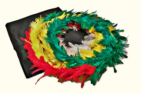 Color changing Feather Wreath