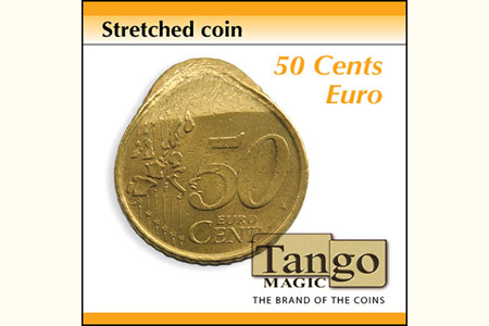 Streched coin 50 cents euro