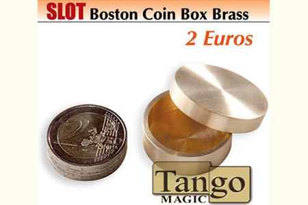 Slot boston coin box Brass 2 euros