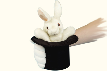 RABBIT IN HAT W/GLOVE