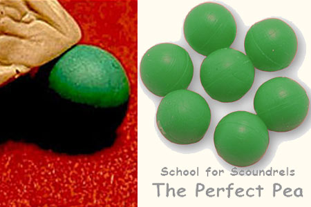 The perfect green peas for 3 shell game (7 pcs)