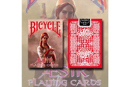 Bicycle Aesir Viking Gods Deck Red