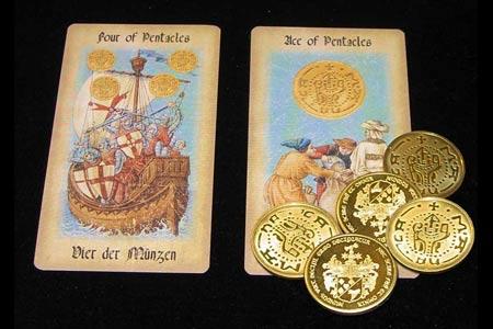 Pièces Médiévales Dorées Par 5 Tour De Magie