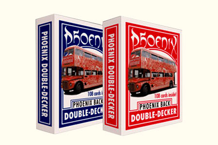 Phoenix Parlour Dble-Decker deck red/blue