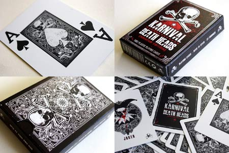 Karnival Death Heads deck (100% plastic)