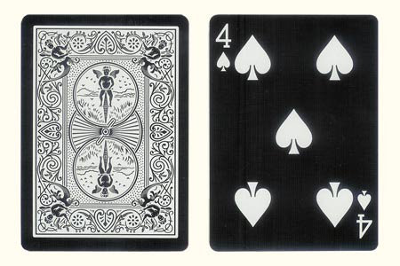 4 of Spades with 1 extra Spade BICYCLE Tiger Card