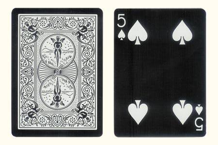 5 of Clubs with 1 Clubs missing BICYCLE Card