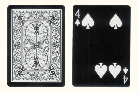 4 of Spades with 2 spots together BICYCLE Tiger Ca
