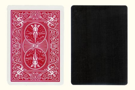 Black Face BICYCLE Card