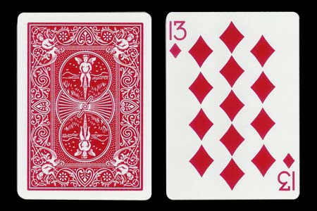 13 of Diamonds BICYCLE Card