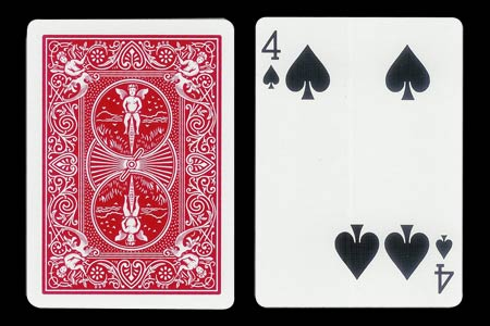 4 of Spades with 2 spots together BICYCLE Card