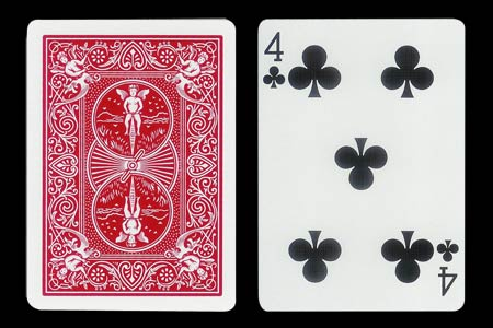 4 of Spades with 1 extra Spade BICYCLE Card