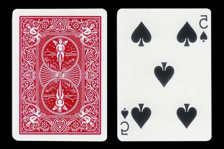 Mirrored 5 of Spades BICYCLE Card