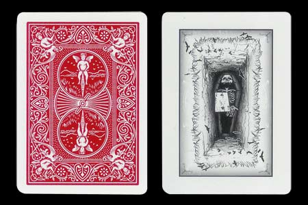 2 of Clubs & Coffin BICYCLE Card