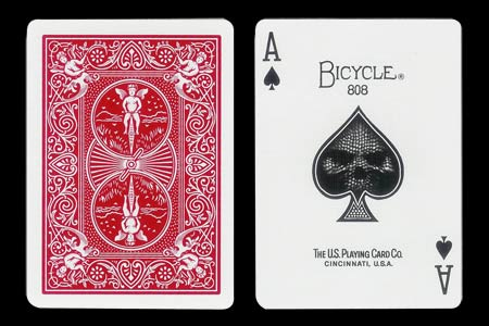 Carte Bicycle As de Pique � t�te de mort