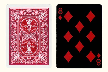 8 of Diamonds Tiger Face BICYCLE Card