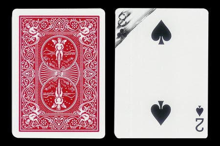 Double Index Wipped Out 8 of Clubs BICYCLE card
