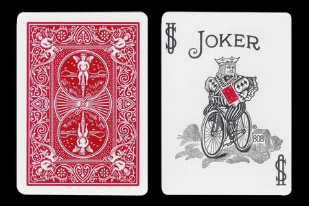 Carta BICYCLE Joker con dorso