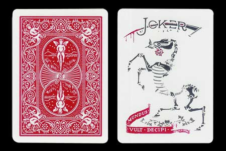 Carte Bicycle joker squelette