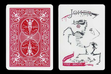 Carta BICYCLE Joker esqueleto con As de Trébol