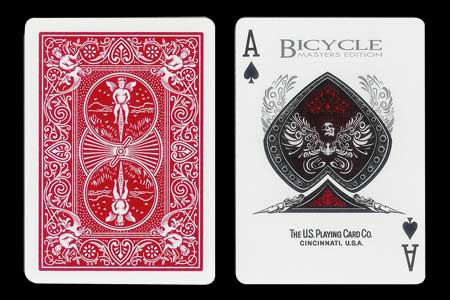 Carte Bicycle à As de Pique Masters Edition rouge