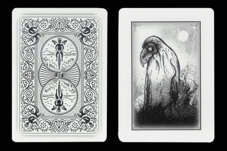 5 of Spades & Phantom Bird BICYCLE Ghost Card