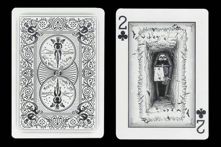 Coffin BICYCLE Ghost Card with 2 of Clubs