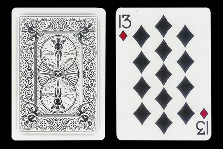 13 of Diamonds BICYCLE Ghost Card