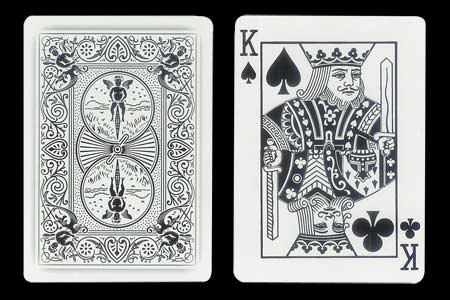 Black King´s Double Index BICYCLE Ghost Card