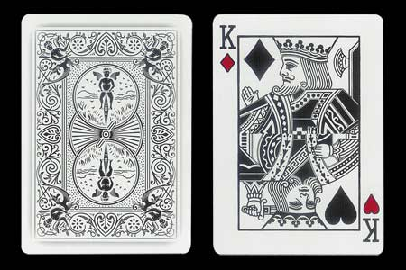 Red King´s Double Index BICYCLE Ghost Card