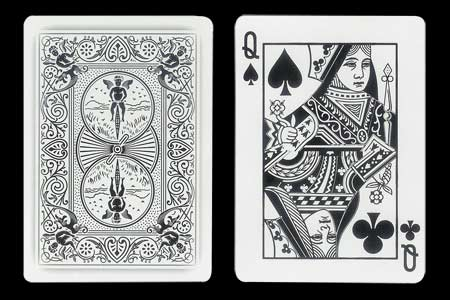 Black Queen´s Double Index BICYCLE Ghost Card