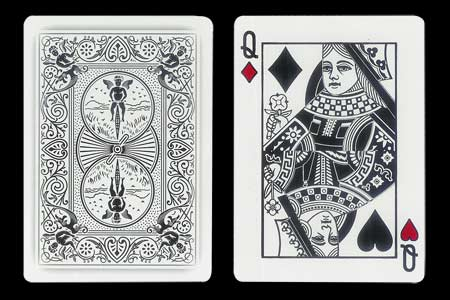 Red Queen´s Double Index BICYCLE Ghost Card