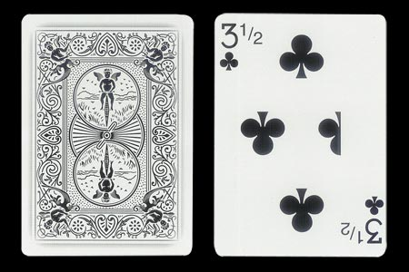 3 & 1/2 of Clubs Ghost BICYCLE Card