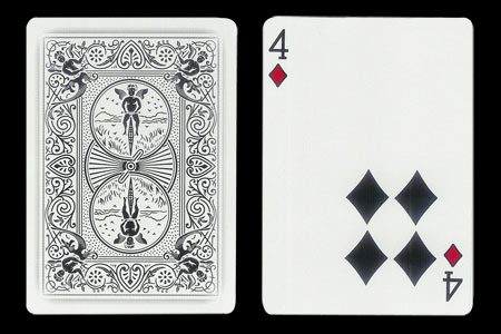 4 of Spades with 4 spots together BICYCLE Ghost Ca