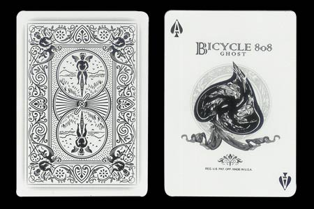 Carta BICYCLE Ghost As de picas Retorcido